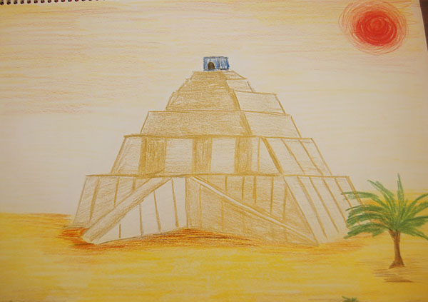 the gallery for gt ziggurat drawing for kids