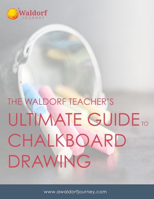 Waldorf chalkboard drawing