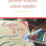 Waldorf supplies