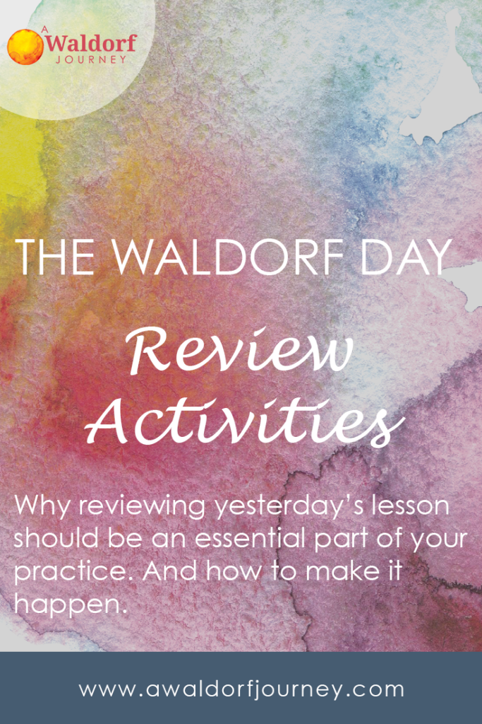 The Waldorf Main Lesson — Review