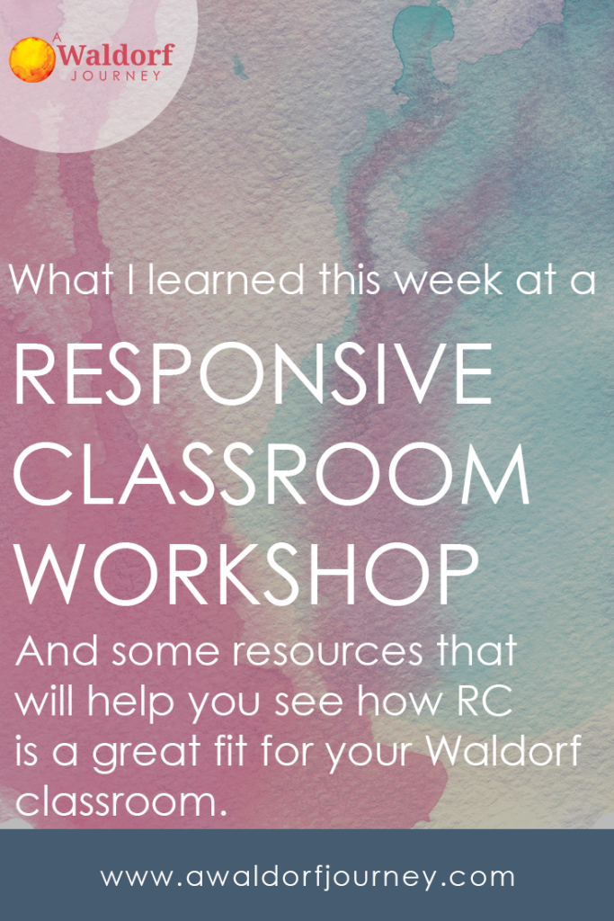 What I Learned at a Responsive Classroom Workshop