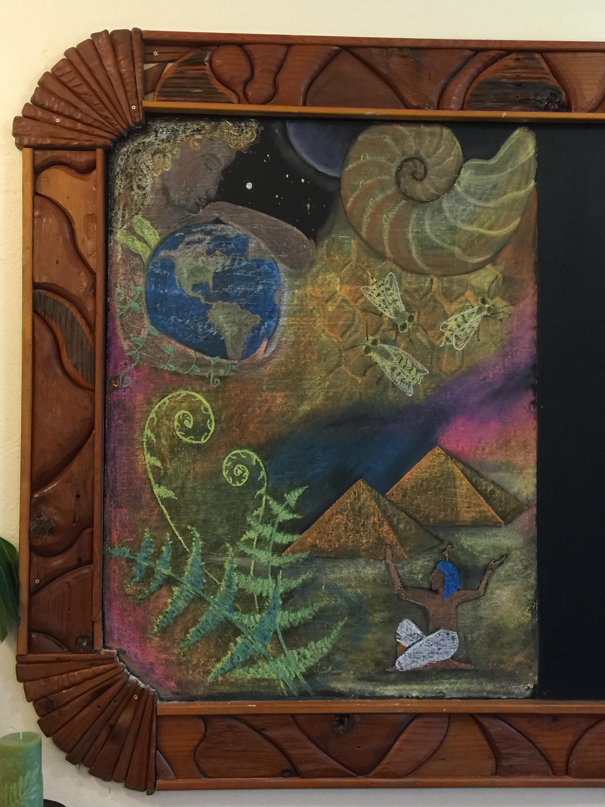 5th grade Waldorf chalkboard