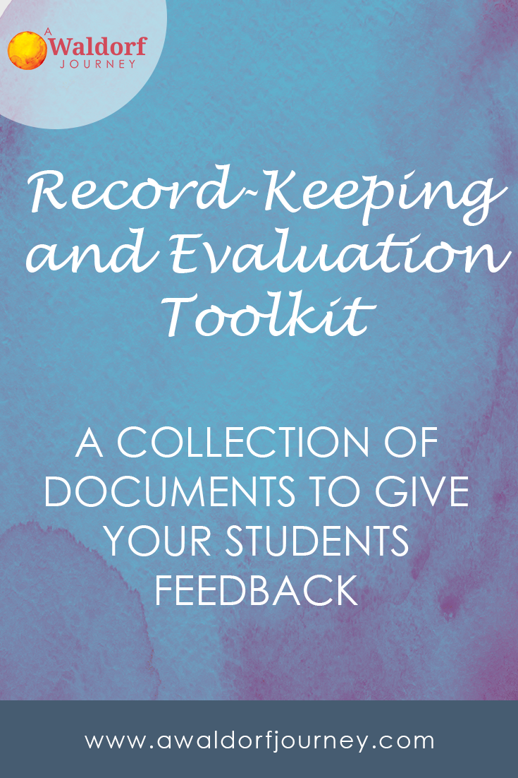 Waldorf record-keeping and evaluation toolkit