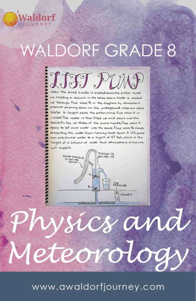 Waldorf Grade Eight Physics and Meteorology Curriculum Guide!